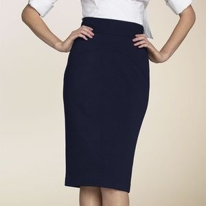 Diane Von Furstenberg DVF Black Panel Pencil Skirt